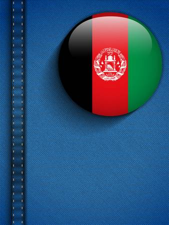 afghanistan flag: Vector - Afghanistan Flag Button in Jeans Pocket