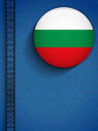 Vector - Bulgaria Flag Button in Jeans Pocket