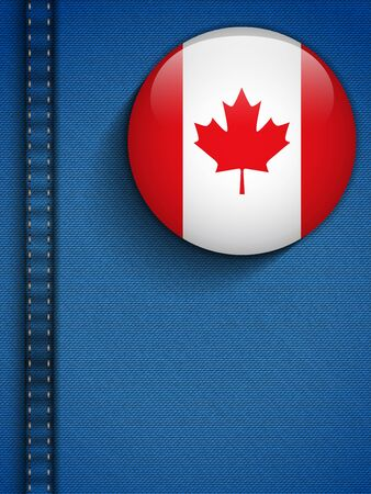 Vector - Canada Flag Button in Jeans Pocket Vector