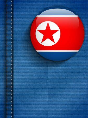 Vector - North Korea Flag Button in Jeans Pocket Stock Vector - 19976510