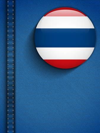 Vector - Thailand Flag Button in Jeans Pocket Stock Vector - 19976503