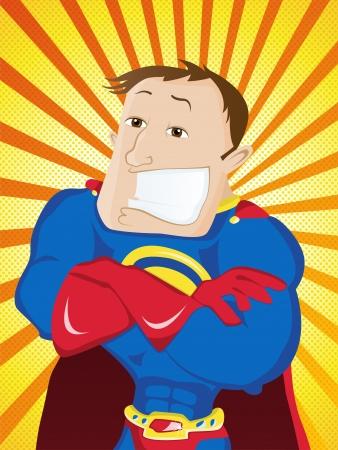 super dad: Vector - Super Man Hero Dad. Happy Father Day
