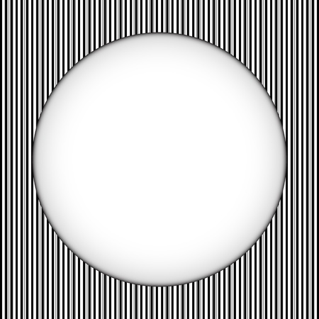 Vector - Circle Border Black and White Stripes Vector