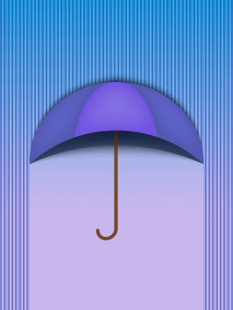rainy days: Beautiful Umbrella Protection Rain Blue - Vector