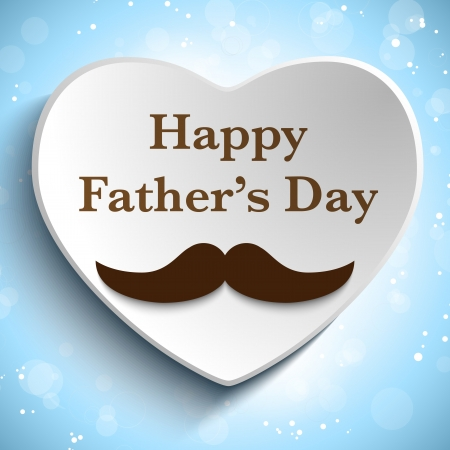 Vector - Happy Father Day Mustache Love
