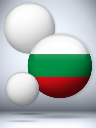 Vector - Bulgaria Flag Glossy Button Vector