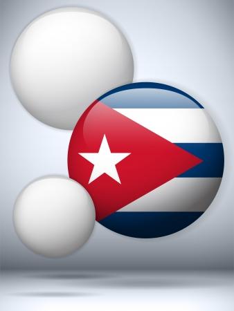 Vector - Cuba Flag Glossy Button Stock Vector - 20224975