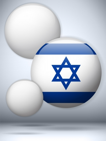 flag of israel: Vector - Israel Flag Glossy Button