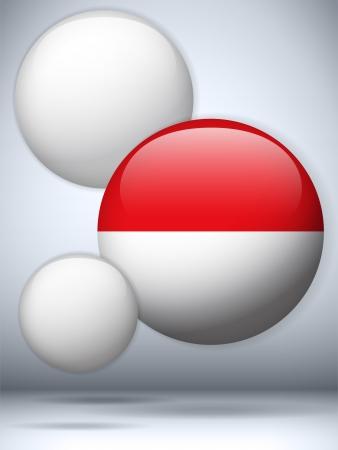 monaco: Vector - Monaco Flag Glossy Button