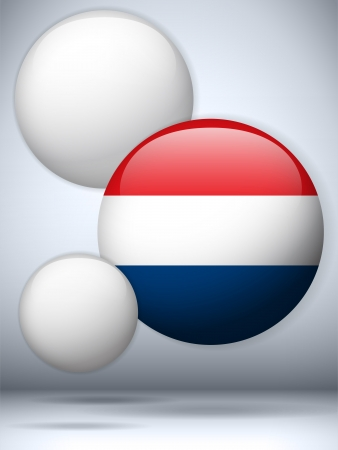 Vector - Netherlands Flag Glossy Button Stock Vector - 20224985