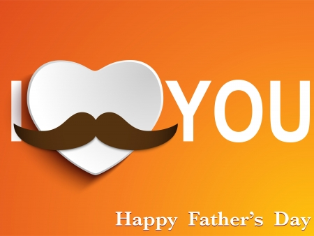 happy fathers day card: Vector - Happy Father Day Mustache Love