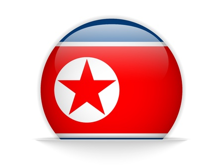 Vector - North Korea Flag Glossy Button Stock Vector - 20225038