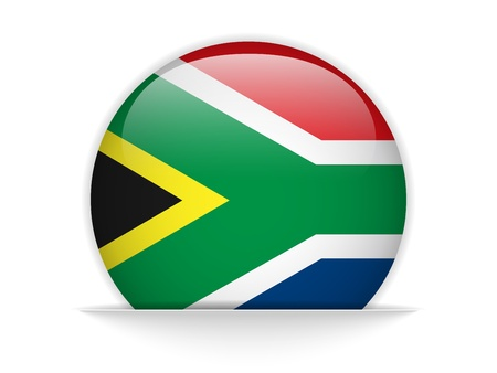 Vector - South Africa Flag Glossy Button Vector