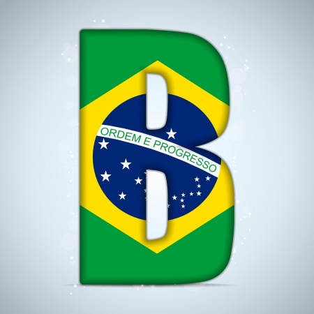 independance: Brazil Flag Brazilian Alphabet Letters Words