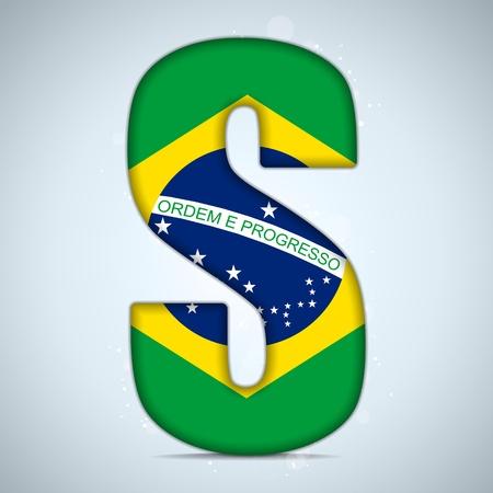 brazilian flag: Brazil Flag Brazilian Alphabet Letters Words