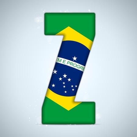 independance: Brazil Flag Brazilian Alphabet Letters Words