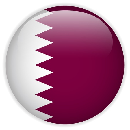 Qatar Flag Glossy Button Stock Vector - 21298812