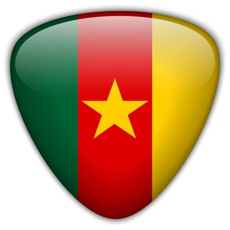 cameroon: Cameroon Flag Glossy Button