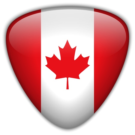 canadian flag: Canada Flag Glossy Button
