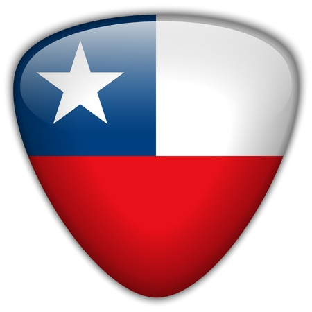 chilean: Chile Flag Glossy Button