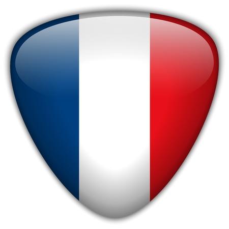 flag france: France Drapeau Bouton Glossy