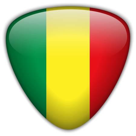 mali: Mali Flag Glossy Button
