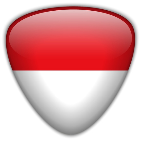 monegasque: Monaco Flag Glossy Button