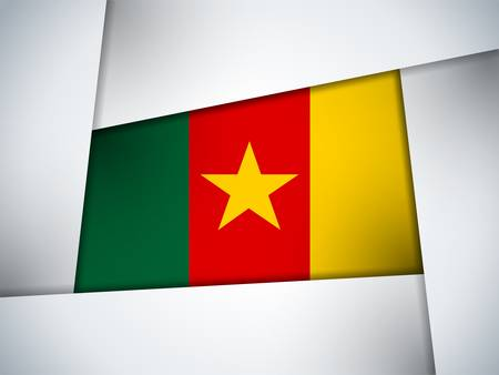 cameroon: Cameroon Country Flag Geometric Background