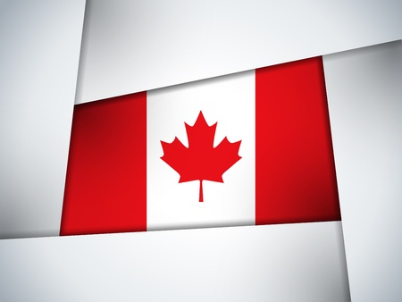 Canada Country Flag Geometric Background Vector