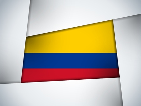 colombia flag: Colombia Country Flag Geometric Background Illustration