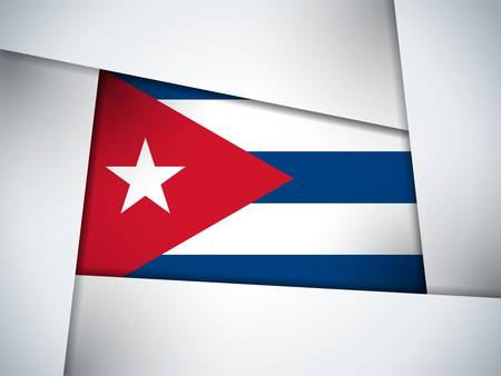 cuban: Cuba Country Flag Geometric Background
