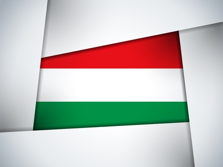 Hungary Country Flag Geometric Background Vector