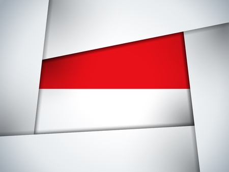 Monaco Country Flag Geometric Background Vector