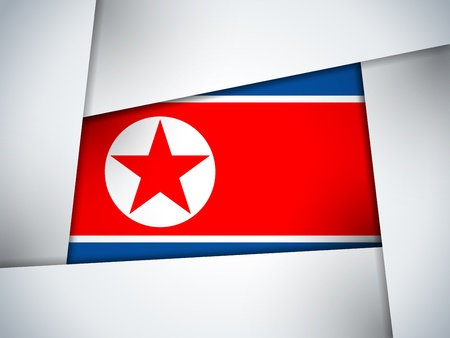 North Korea Country Flag Geometric Background Stock Vector - 21299145