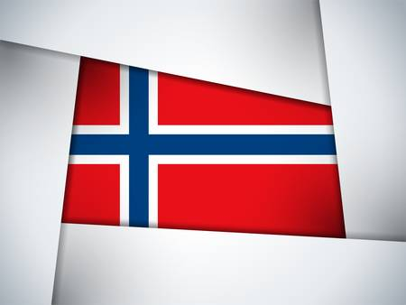 norwegian flag: Norway Country Flag Geometric Background