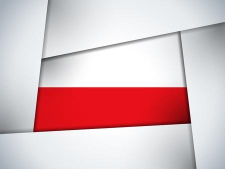 polish flag: Poland Country Flag Geometric Background Illustration