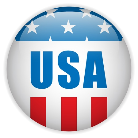 United States Independence Day Button Stock Vector - 21299165