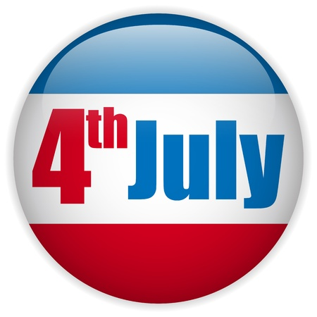 United States Independence Day Button Vector
