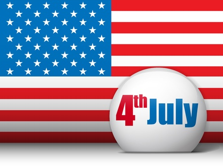 United States Independence Day Background Vector