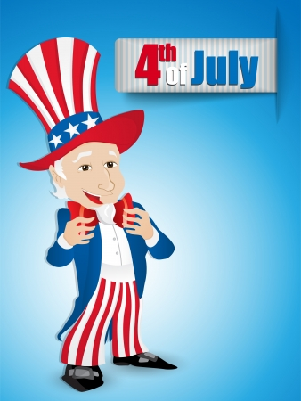 United States Independence Day Uncle Sam Vector