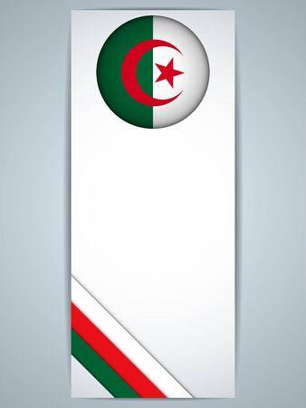 algerian flag: Vector - Algeria Country Set of Banners