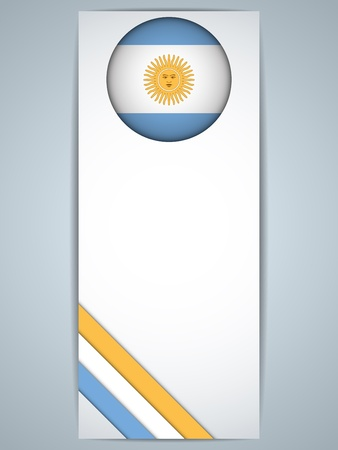 Vector - Argentina Country Set of Banners Vector