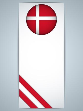 denmark flag: Vector - Denmark Country Set of Banners Illustration