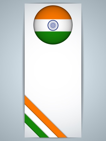 indian design: Vector - India Country Set of Banners
