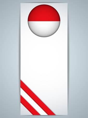 monegasque: Vector - Monaco Country Set of Banners Illustration