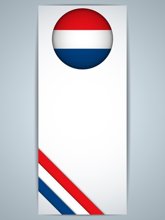 dutch flag: Vector - Netherlands Country Set of Banners