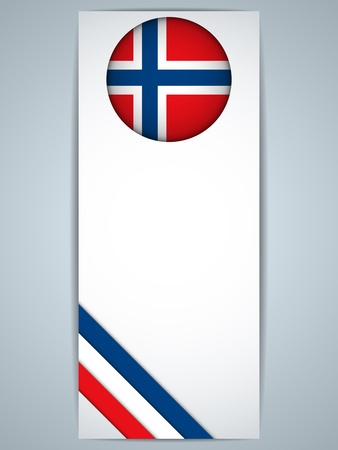 norwegian flag: Vector - Norway Country Set of Banners