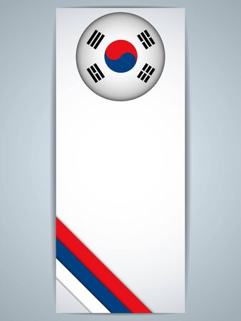 Vector - South Korea Country Set of Banners Vector