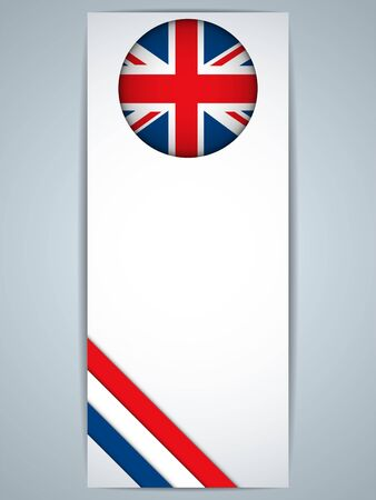 Vector - United Kingdom Country Set of Banners Vector