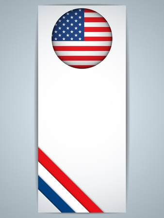 Vector - United States Country Set of Banners Vector